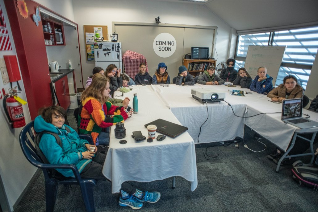 Whakatū students workshopped camera skills with expert photographers Tatsiana Chypsanava and Raymond Sagapolutele. Image credit Raymond Sagapolutele